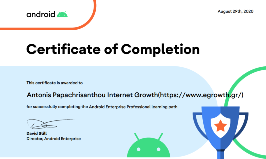 Android Enterprise Certification